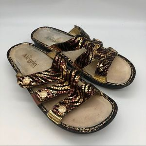 Algeria Venice tiger metallic sandals